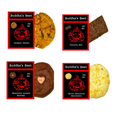 Budda's Best Cookie Variety Pack 300mg
