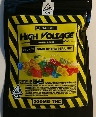 High Voltage Gummy Bears 200mg