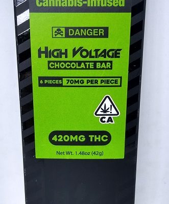 High Voltage Dark Chocolate Bar 420mg