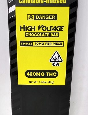 High Voltage Milk Chocolate Bar 420mg