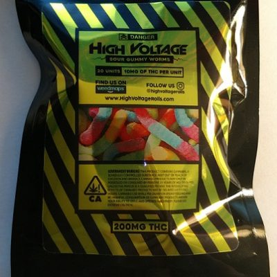 High Voltage Sour Gummy Worms 200mg