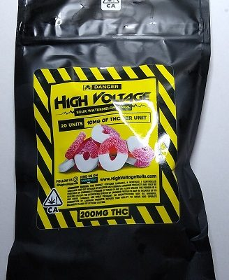 High Voltage Sour Watermelon Rings 200mg