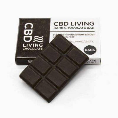 CBD Living Dark Chocolate Bar 120mg CBD