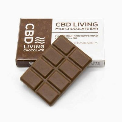 CBD Living Milk Chocolate Bar 120mg CBD