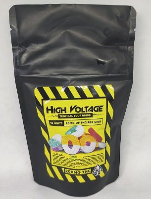 High Voltage Sour Tropical Rings 200mg