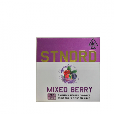 Stndrd Gummy 100mg CBD 10:1 CBD/THC Mixed Berry