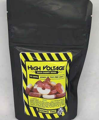 High Voltage Sour Cherry Rings 200mg