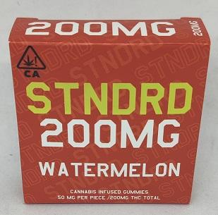 Stndrd Gummy 200mg Indica Watermelon